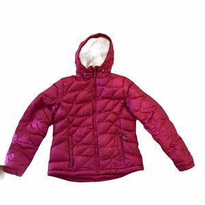 LL Bean Girls Down Puffer Jacket M